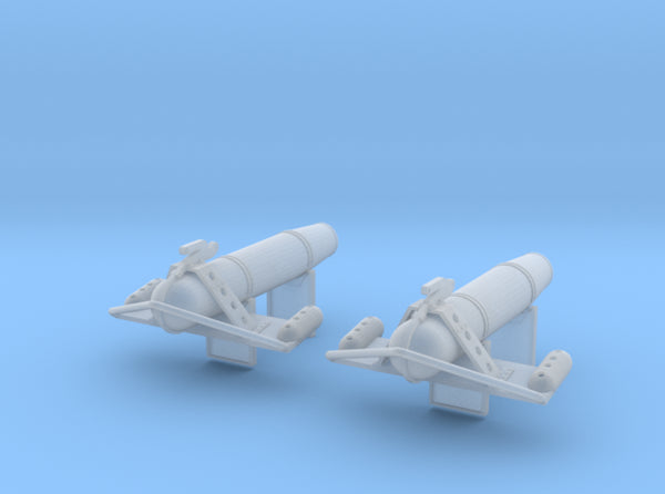 1/96 USN South Dakota Paravane Set x2 3d printed