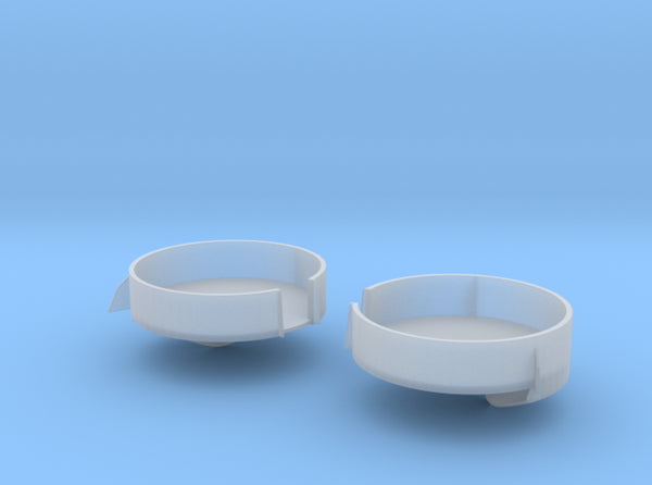 1/96 USN South Dakota 40mm Bofors Stern tub Set 3d printed
