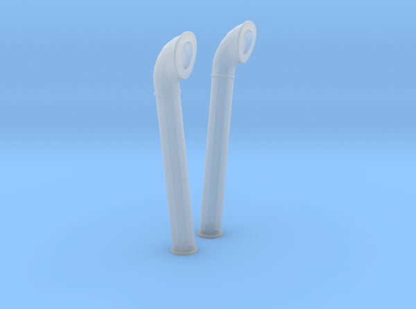 1/100 DKM Schnellboot Midship Vent Pipes Set 3d printed