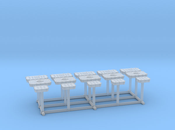 1/192 USN Deck hatches Set 3d printed