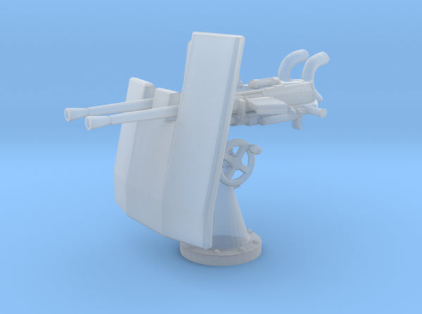 1/144 DKM Double 20mm C/30 Flak w. Shield 3d printed