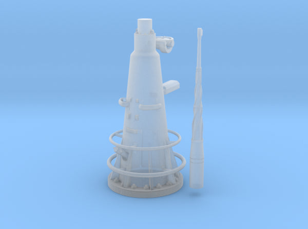 1/35 DKM UBoot VIIC Attack Periscope w. compass 3d printed