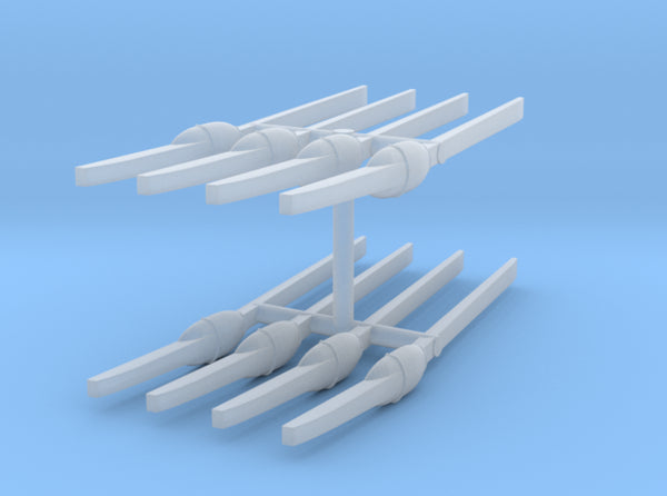 1/144 IJN Paddles (Oars) Set x8 3d printed