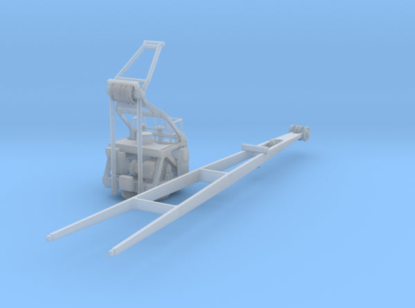 1/144 Bismarck Airplane Crane KIT 3d printed