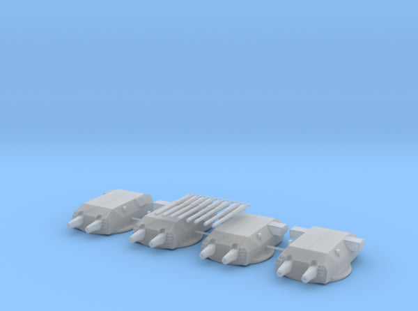 1/350 Bismarck and Tirpitz Turrets Set v2 3d printed