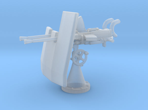 1/100 DKM Double 20mm C/30 Flak w. Shield 3d printed