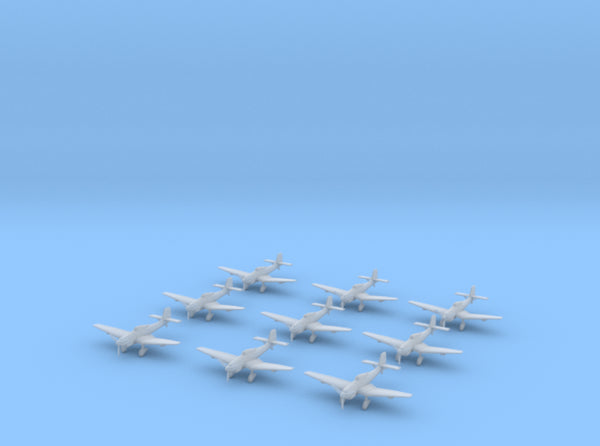 1/350 German Junkers Ju 87 Set x9 3d printed