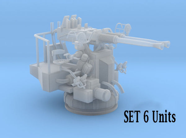 1/500 USN 40mm Bofors Twin Mount SET x6 3d printed