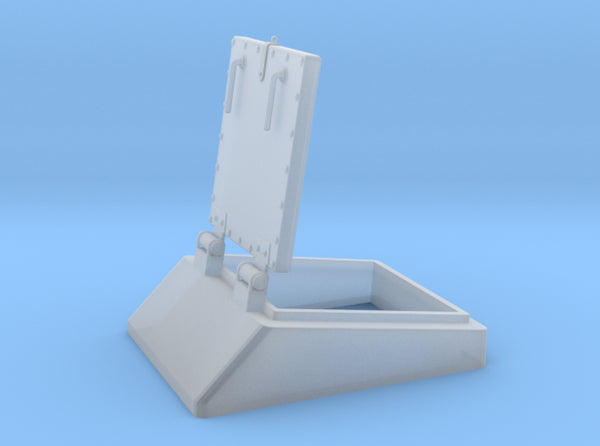 1/20 DKM Schnellboot Bow Hatch 3d printed