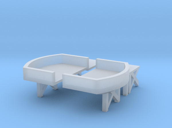 1/600 HMS Exeter Midship Platform Twin Mounts 3d printed