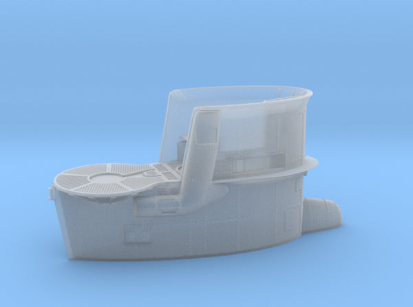 1/60 DKM Uboot VIIB Conning Tower 3d printed