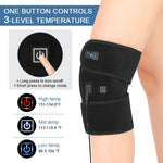 Heating Knee Pad, Heated Knee Brace Wrap Knee Warmer for Men and Women with 3 Temperature Setting Heat Therapy for Sprain, Rheumatism and Arthritis Pain Relief