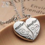 "ZN Popular Mother and Daughter Heart necklace women Love ""Mom"" Necklace Mother's Day Gifts For Mother"