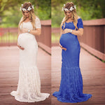 2018 Women Dress Maternity Photography Props Lace Pregnancy Clothes Maternity Dresses For Pregnant Photo Shoot Cloth Plus Size
