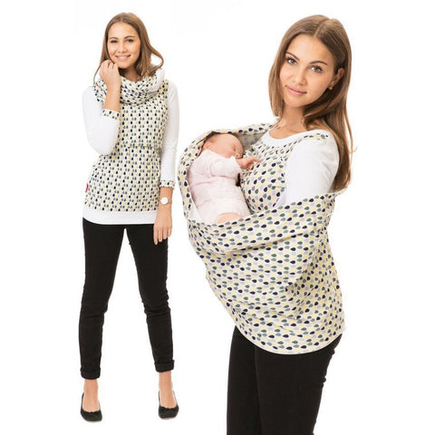 Maternity Breastfeeding Hoodie Winter Pregnant T Shirt Women Pregnancy Hooded Top Lactation Clothes For Nursing Mothers Clothing