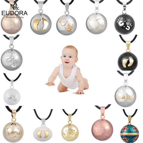 Eudora Harmony Ball Pendant Necklace Pregnancy Chime Ball Mexcian Bola Pendants Wishing Balls Fine Jewelry for Women Best Gift