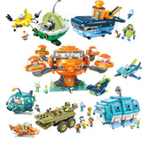 Octonauts Building Block Octopod Gup Submarine Boat Oct-Pod with GUP-C GUP-E GUP-D GUP-K GUP-I Brick set for Children Gift