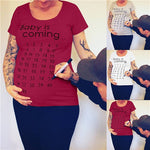 Pregnantwooman™ Baby Is Coming Print Maternity Clothing