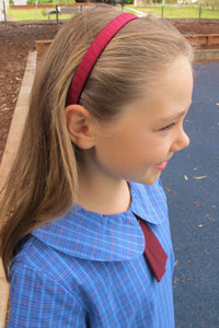 Grosgrain Maroon Hairband