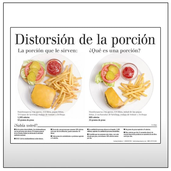 Portion Distortion Spanish Handouts