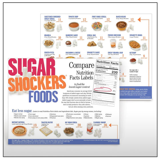 Sugar Shocker Foods Handouts