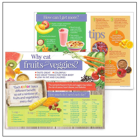 Why Eat Fruits and Veggies Handouts
