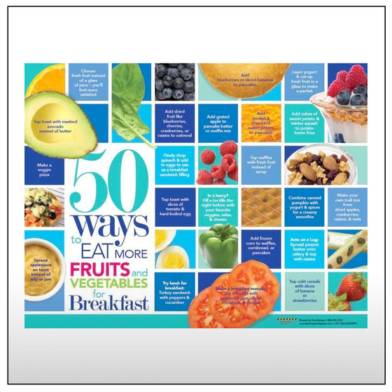 50 Ways to Eat More Fruits and Vegetables for Breakfast Handouts