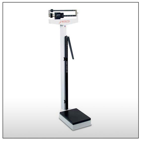 Detecto 439 Balance Beam Scale with Height Rod