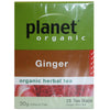 Planet Organic - Ginger Tea Bags 25bags - Natural Organic Store