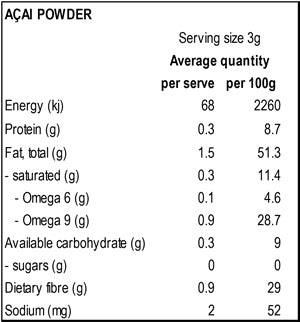 Power Super Foods Acai Powder 100g - Natural Organic Store