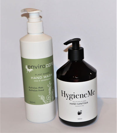 Hand Sanitiser & Hand Wash - Single Value Pack + FREE SOAP - Natural Organic Store