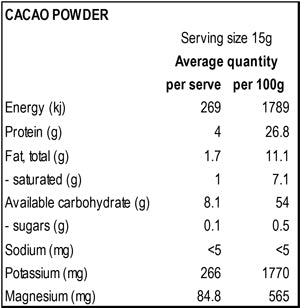 Power Super Foods Cacao Powder - Natural Organic Store