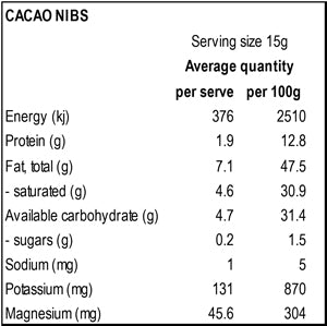 Power Super Foods Cacao Nibs 125g - Natural Organic Store