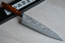 Load image into Gallery viewer, CS203 Japanese Kitchen Knife Saji VG10 Black Damascus steel - Gyuto 21cm