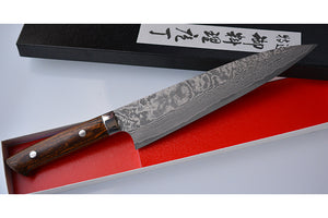 CS203 Japanese Kitchen Knife Saji VG10 Black Damascus steel - Gyuto 21cm