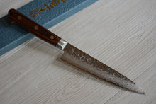 Load image into Gallery viewer, CY204 Japanese Kitchen Knife Zenpou VG10 Damascus Steel - Hammered Petty14cm