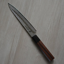 Load image into Gallery viewer, CY209 Japanese Kitchen Knife Zenpou Swedish-Sandvik Damascus Steel - Hammered Petty 15.5cm