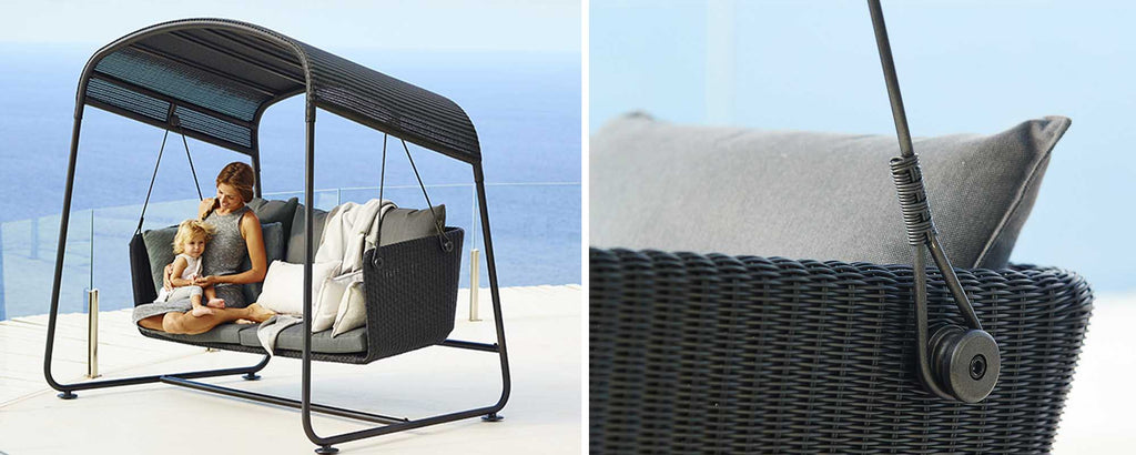 Outdoor swing sofas