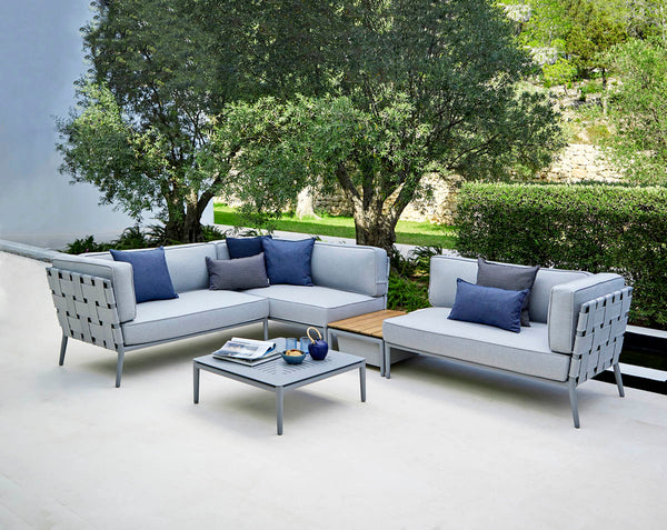 Grey sofa group from Cane-line