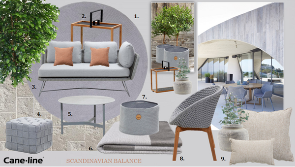 Outdoor lounge items grey colours