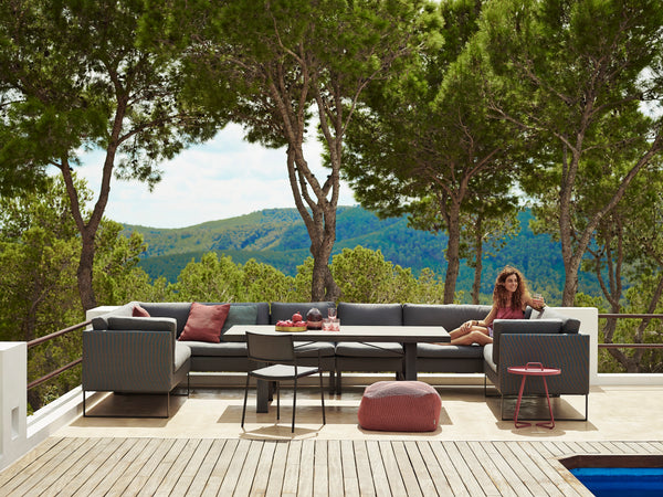 Beautiful large and modern outdoor lounge set from Cane-line