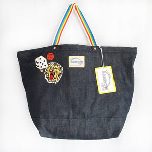 """Stamp Out"" Indigo Tote"