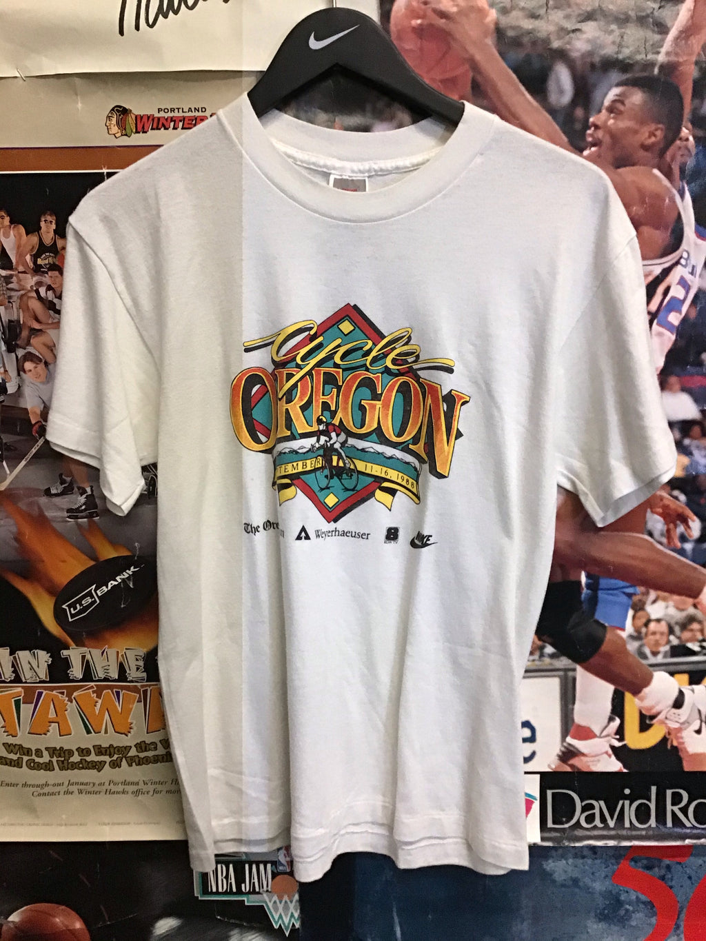 Nike Cycle Oregon Tee Large - Decades of dope