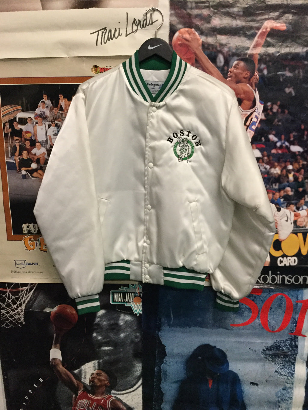 Swingster Boston Celtics Satin Jacket Medium - Decades of dope