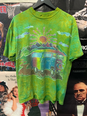 Skeleton Green Tie Dye Bus Large - Decades of dope