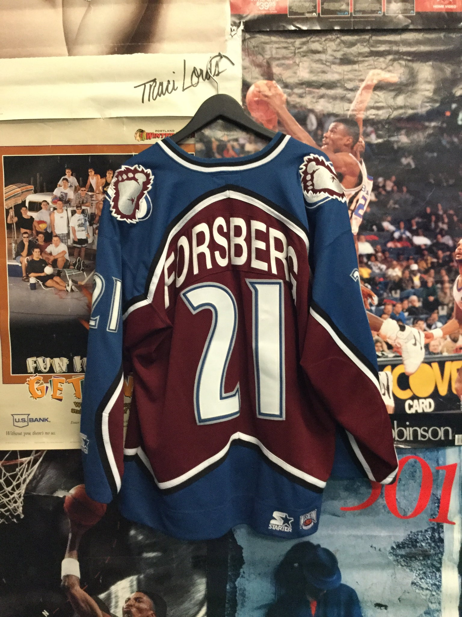 Starter Colorado Avalanche Forsberg Jersey Large - Decades of dope