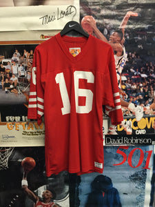 Sand Knit Joe Montana SF 49'ers Jersey - Decades of dope