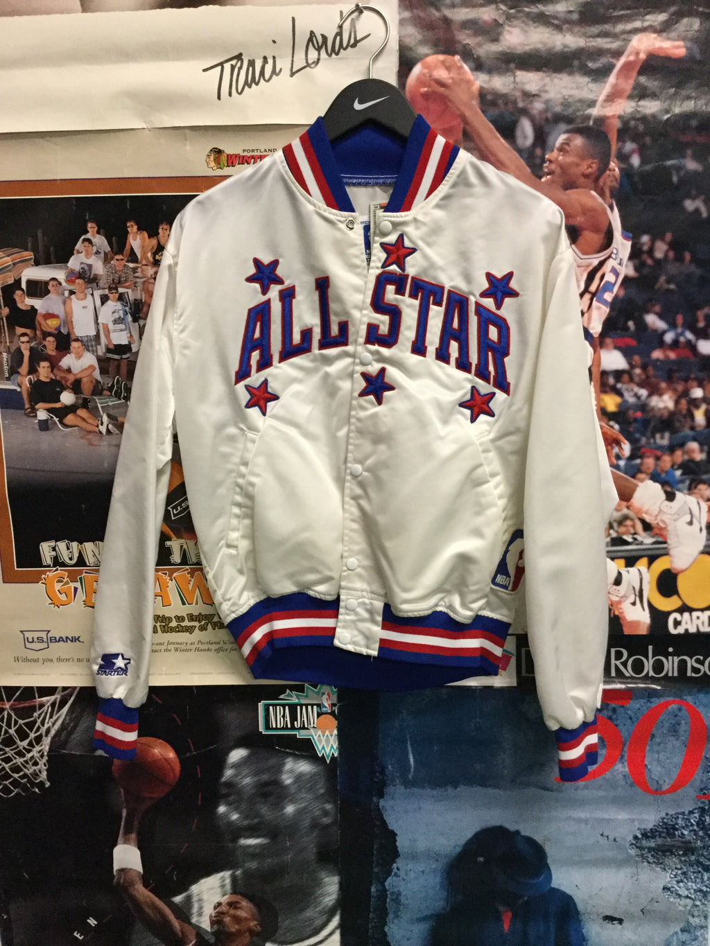 Starter NBA All Star Satin Jacket Medium - Decades of dope