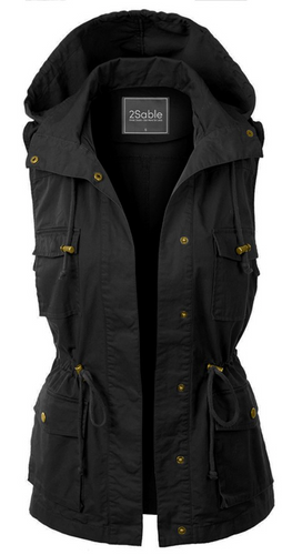 Military Vest with Hood