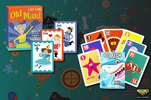 OLD MAID AND GO FISH CARDS